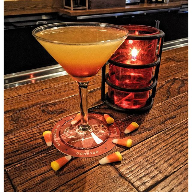 Cuba Libre is serving a candy corn martini the rest of October. (Photo: Cuba Libre)