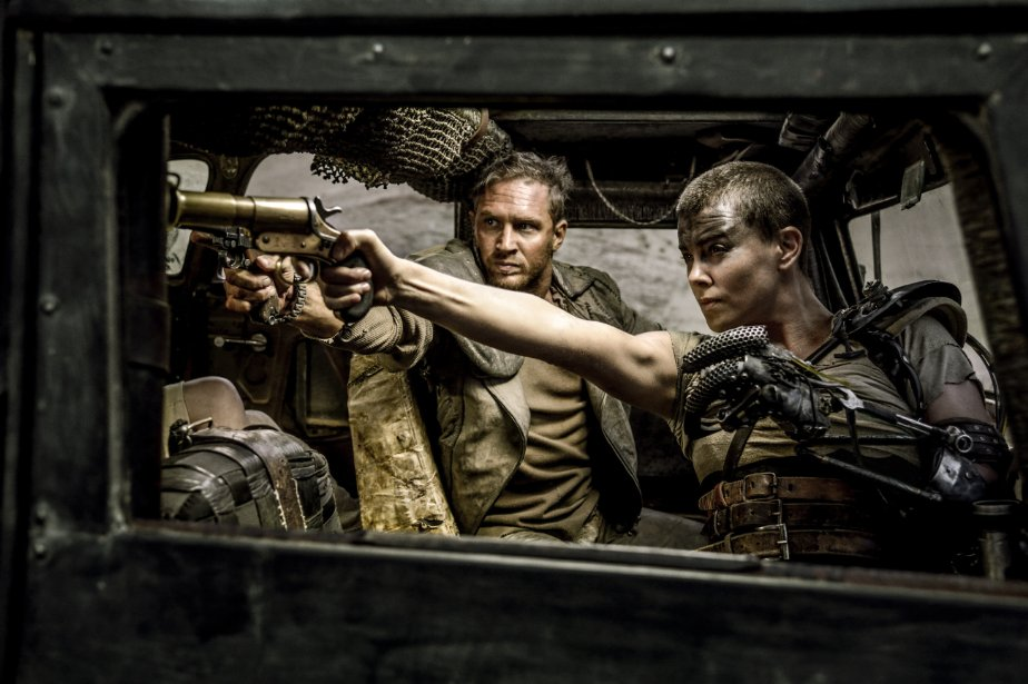 "Tom Hardy (left) and Charlize Theron star in ""Mad Max: Fury Road."" (Photo: Jasin Boland/Warner Bros. Entertainment Inc.)"