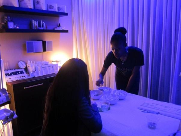 Guests enjoyed complimentary facial consultations. (Photo: Bulldog PR)