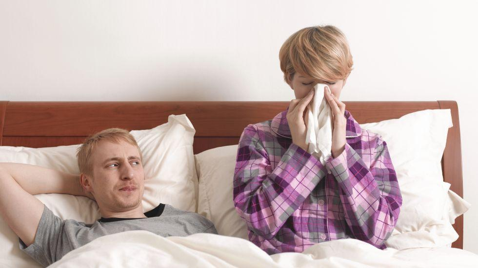Instead of getting everyone around you sick, hangout with your love interest from afar. (Photo: Getty Images)
