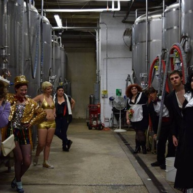 The Sonci Transducers visit D.C. Brau's brewery. (Photo: D.C. Brau)