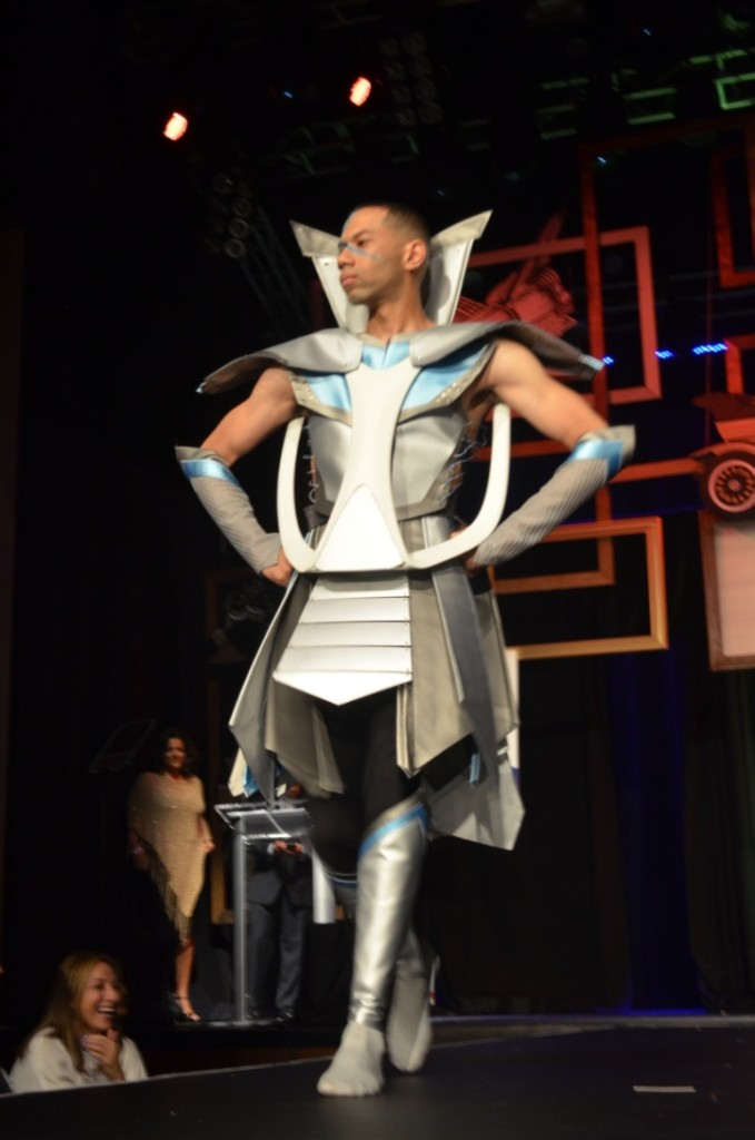Architects and designers walked the runway in creations inspired by the Smithsonian Institution museums. (Photo: Scott Steinke)