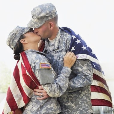 Everyone loves a couple in uniform. (Photo: Pinterest)
