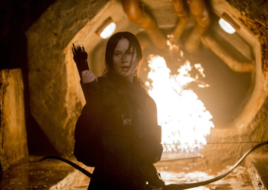 Jennifer Lawrence stars at Katniss Everdeen in The Hunger Games: Mockingjay -- Part 2. (Photo: Murray Close/Lionsgate Entertainment)