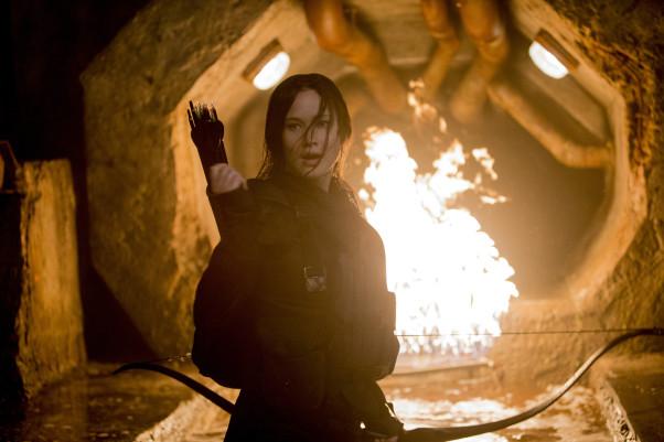 Jennifer Lawrence stars at Katniss Everdeen in