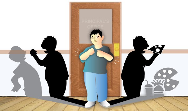 A new study found a surprising link between bullying and eating disorders. (Illustration: Mark Dubowski/Duke Medicine)