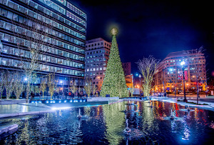 CityCenterDC will light its 75-foot Christmas tree from 6-7 p.m. on Saturday. (Photo; Daniel Swartz)CityCenterDC will light its 75-foot Christmas tree from 6-7 p.m. on Saturday. (Photo; Daniel Swartz)