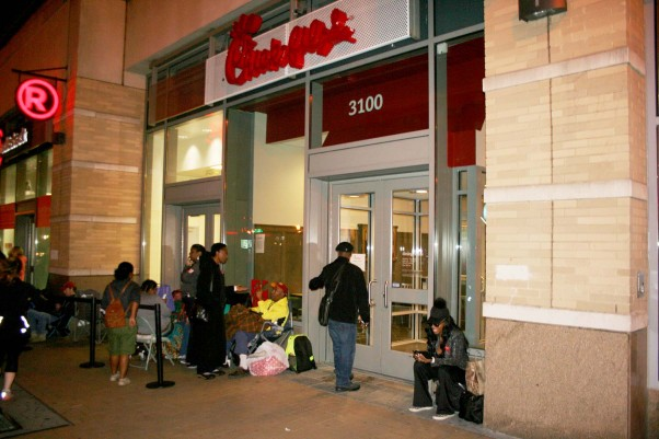 Chick-fil-A opened in Columbia Heights about 6 a.m. Nov. 4. (Photo: Mark Heckathorn/DC on Heels)
