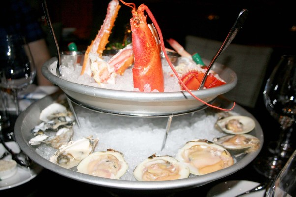 The royal plateau includes a whole lobster, 18 oysters, 12 clams, eight shrimp and a seasonal crab selection for $130. (Photo: Mark Heckathorn/DC on Heels)
