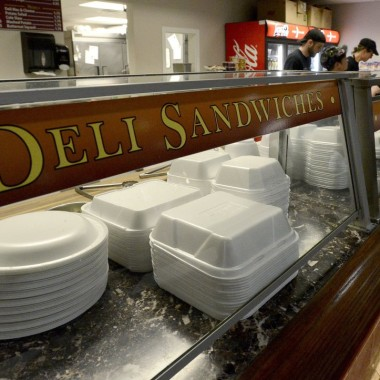 Beginning Jan. 1, the District will ban the use of Styrofoam containers at restaurants and other food-related businesses. (Photo: Portland Press Herald)