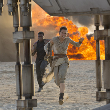 Star Wars: The Force Awakens broke the second weekend record by 40 percent over previous record holder Jurassic World. (Photo: David James/Lucasfilm)