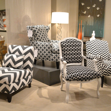 Geometric designs in bold, blocky prints are in. (Photo: Hooker Furniture)