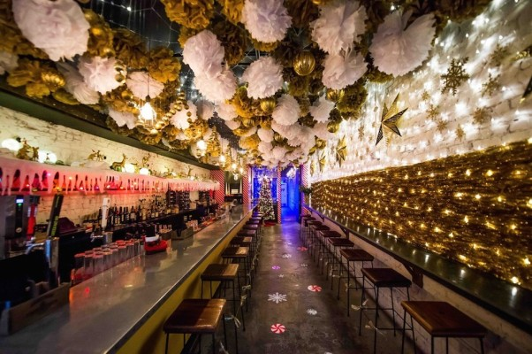 Check out the pop-up Christmas cocktail bar this holiday season! (Photo: Joy Asico/Washingtonian)