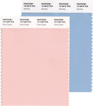 Pantone Color Institute's Colors of the Year for 2016 pairs two soothing pastel shades. (Photo: Pantone Institute)