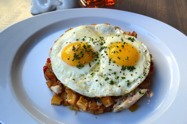 PassionFish Bethesda is now serving weekend brunch including this smoked Great Lakes whitefish hash. (Photo: PassionFish)
