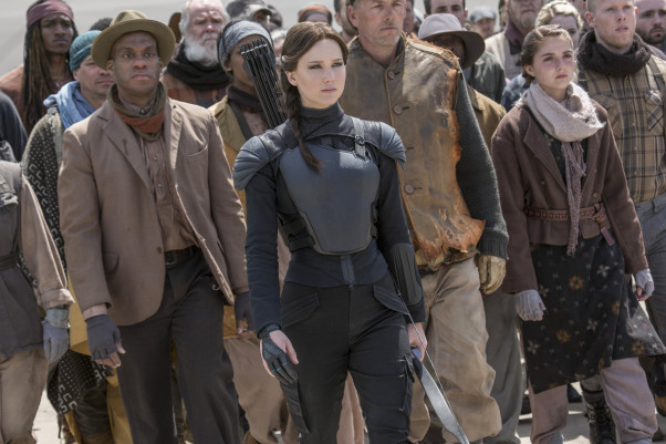 """The Hunger Games: Mockingjay -- Part 2"" finished in first place at the box office for the second week in a row. (Photo: Murray Close/Lionsgate)"