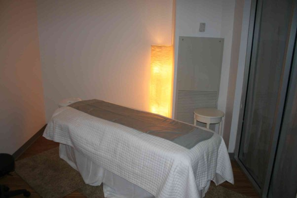 One of the massage rooms at Wellness Spa in Silver Spring. (Photo: Mark Heckathorn/DC on Heels)