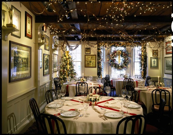 The Middleburg Room at 1789 Restaurant is all decked out for Christmas eve dinner. (Photo: Ron Blunt)