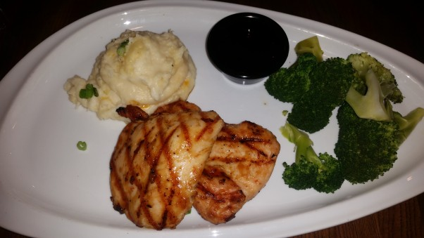 The correct entree -- Jack Daniels chicken from TGI Friday's. (Photo: Mark Heckathorn/DC on Heels)