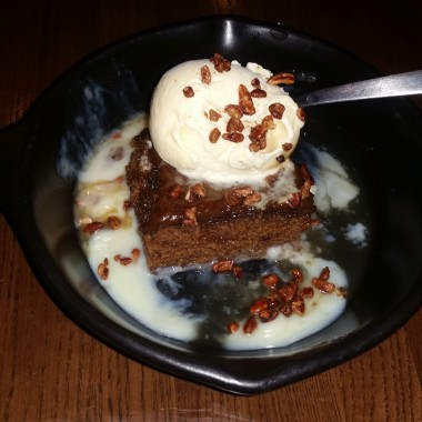 The Tennessee whiskey cake was the best part of this TGI Friday's dinner. (Photo: Mark Heckathorn/DC on Heels)