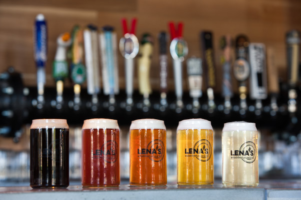 Lena'sWood-Fired Pizza & Tap will have select $5 pints and other happy hour specials from 5-9 p.m. at its bar. (Photo: Lena's Wood-Fired Pizza & Tap)