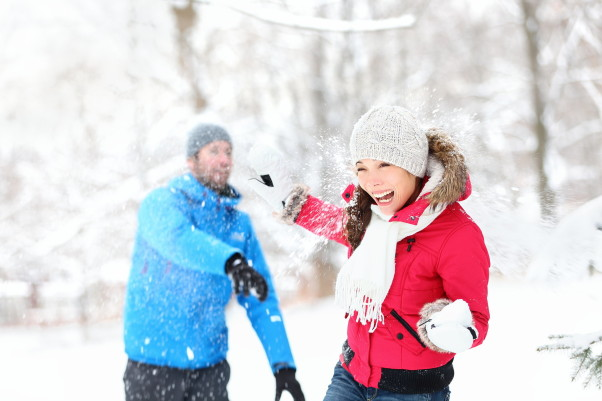 Tons of snow means tons of fun with your significant other. (Photo: Shutterstock)