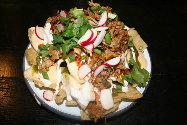 The nachos with pulled pork are delicious. (Photo: Mark Heckathorn/DC on Heels)