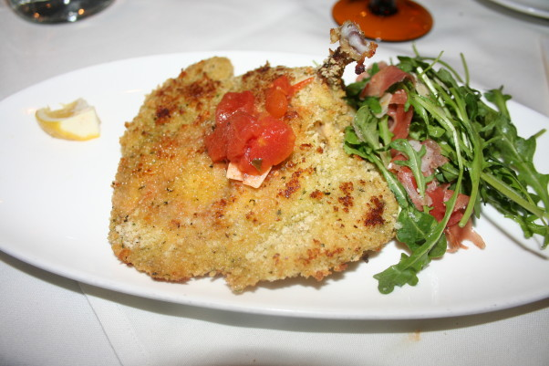 Ris will feature chicken Milanese with lemon and parmesan crust, prosciutto and arugla salad served with garlic roasted potatoes. (Photo: Mark Heckathorn/DC on Heels)