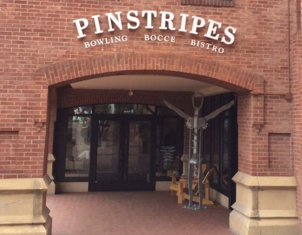 Pinstripes is located in Gergetown Park, formerly the Shops at Georgetown, along the C&O Canal. (Photo: Dine and Drink D.C.)