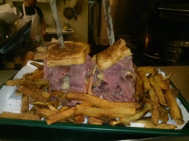 Finish the 3.5 pounds of Reuben sandwich and fries at Chudzpah Deli and your meal is on the house. (Photo: Crystal B./Yelp)