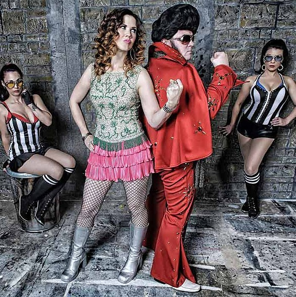 "Kittie Glitter and the ""King"" host the annual Elvis Fight Club on Friday and Saturday. (Photo: Astro Pop Events)"