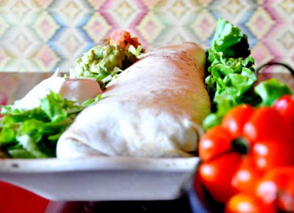 Break the current record for eating  a 7-pound, 17-inch burrito at Guajillo and it's free. (Photo: Guajillo)