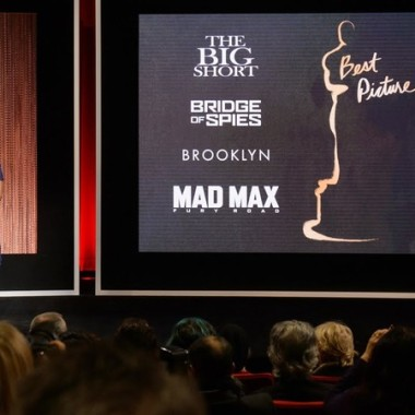 Actor John Krasinski from The Office and Academy of Motion Picture Arts and Sciences President Cheryl Boone Isaacs announce the nominees for best picture. (Photo: Academy of Motion Picture Arts and Sciences)