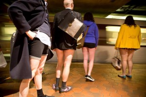 A pants-free Metro ride? Why not?! (Photo: Improv Everywhere)