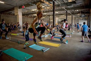 Join local fitness trainers for a free workout at Union Market. (Photo: Alex Perrin)