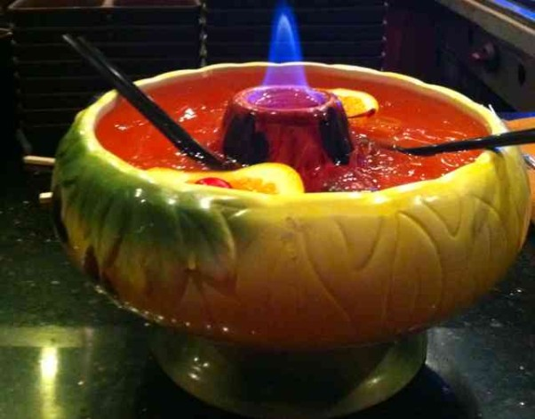 Enjoy a scorpion bowl or other tiki drink at The Royal's Kon-Tiki night Monday. (Photo: Pinterest)