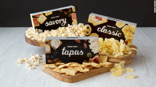 Platkin recommended the tapas snack box on United Airlines with almonds, olives, hummus and bruschetta. Just don't eat the cheese spread. (Photo United Airlines)