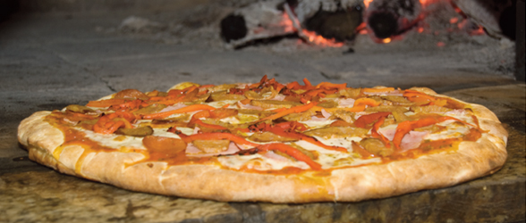 Finish this family-size pizza at The Dons' Wood-Fired pizza and your meal is on the house. (Photo: The Dons' Wood Fired Pizza)