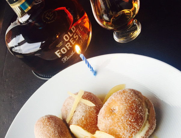 Bourbon Steak is pouring Old Forester's Limited Edition 2015 Birthday Bourbon and pairing it with winter-spiced doughnuts. (Photo: Bourbon Steak)