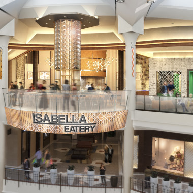 Isabella Eatery will take over the Tysons Galleria third floor food court and include 10 different concepts. (Rendering: Streetsense)