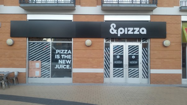 &Pizza is getting ready to open its newest location on the civic plaza in Columbia Heights. (Photo: Mark Heckathorn/DC on Heels)