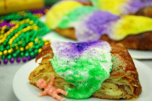 On Tuesday, Mardi Gras partiers at Bayou Bakery will receive a free slice of King Cake. (Photo: Bayou Bakery)
