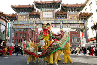 Welcome 4714 at the annual Chinese New Year Parade in Chinatown. (Photo: Getty Images)