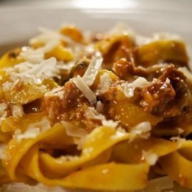 Fresh made tagliatelle bolognese at one of the New England Alta Strada restaurants. (Photo: Alta Strada/Facebook)