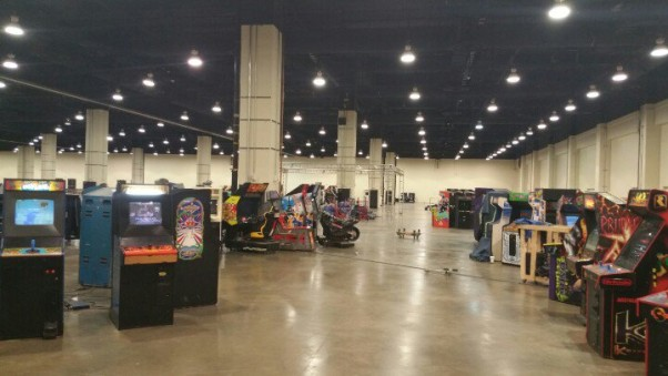 MAGFest prepares arcade games ahead of this weekend's gaming convention. (Photo: MAGFest)