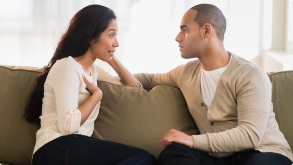 Resolving conflict is necessary for a healthy relationship. (Photo: Getty Images)