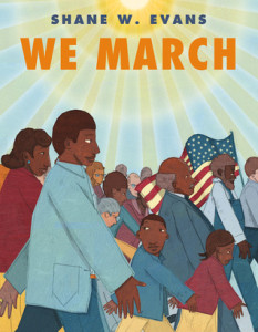 Author Shane Evans will discuss his book, <em>We March</em> at the Black History Month Family Day. (Photo: Roaring Book Press)