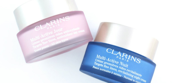 Clarins' multi-active day and night creams have anti-aging properties. (Photo: thehappysloths.com)