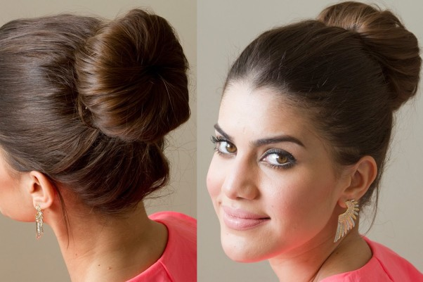 Sock buns create the perfect bun in just minutes. (Photo: YouTube)
