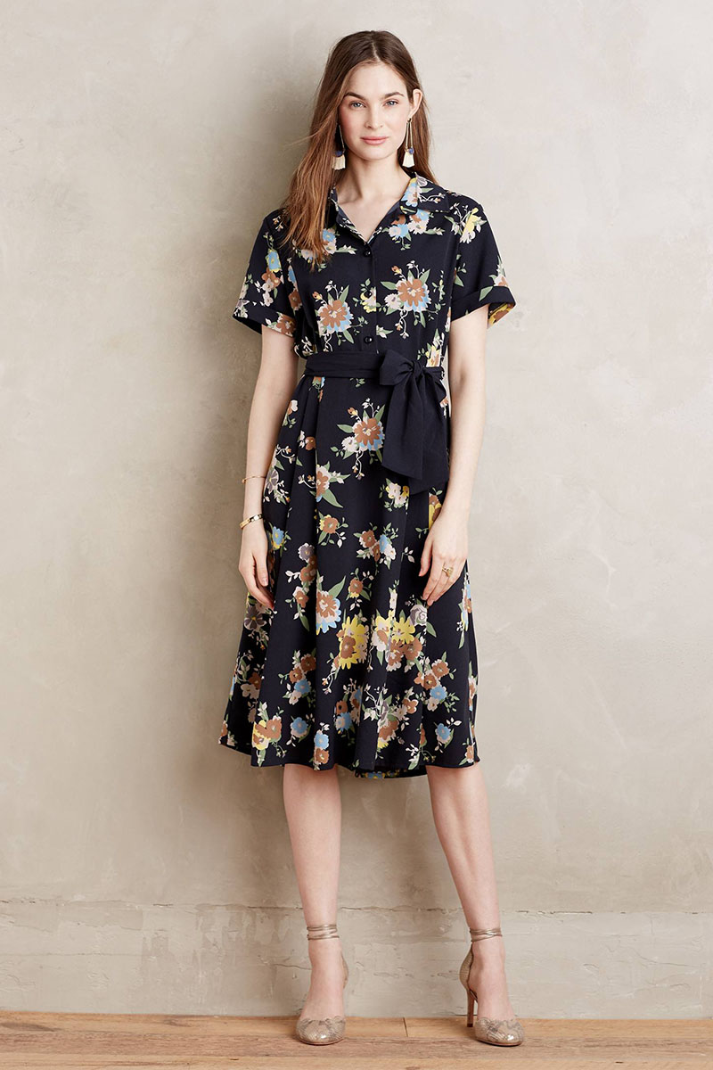 A floral dress can be worn year round. (Photo: Anthropologie)